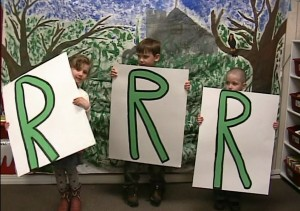 Olney-Bissell 3 Rs signs