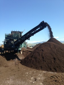 Compost is screened to ensure consistent size